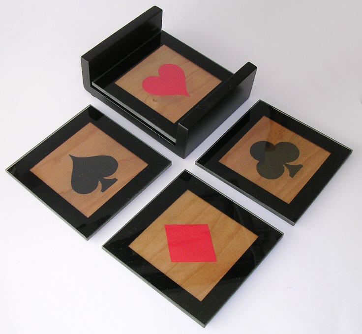 Marquetry Coasters with Union Flag design