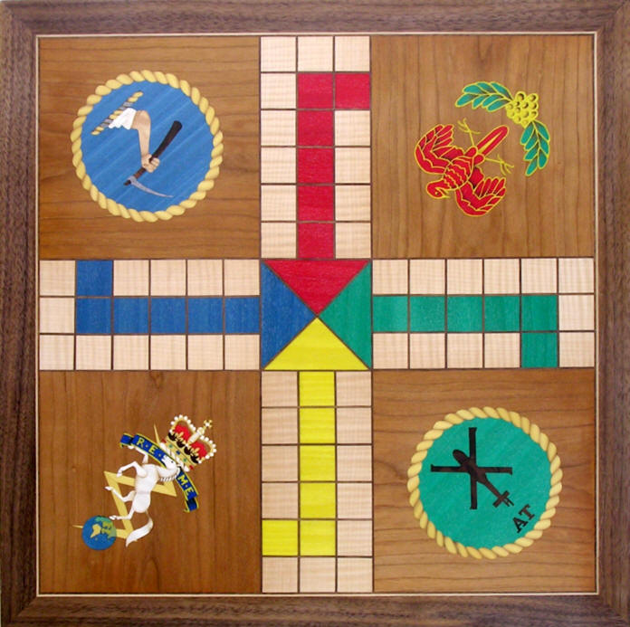 Uckers (Ludo) board