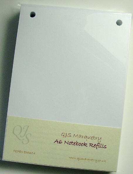 Marquetry notebook refill pack